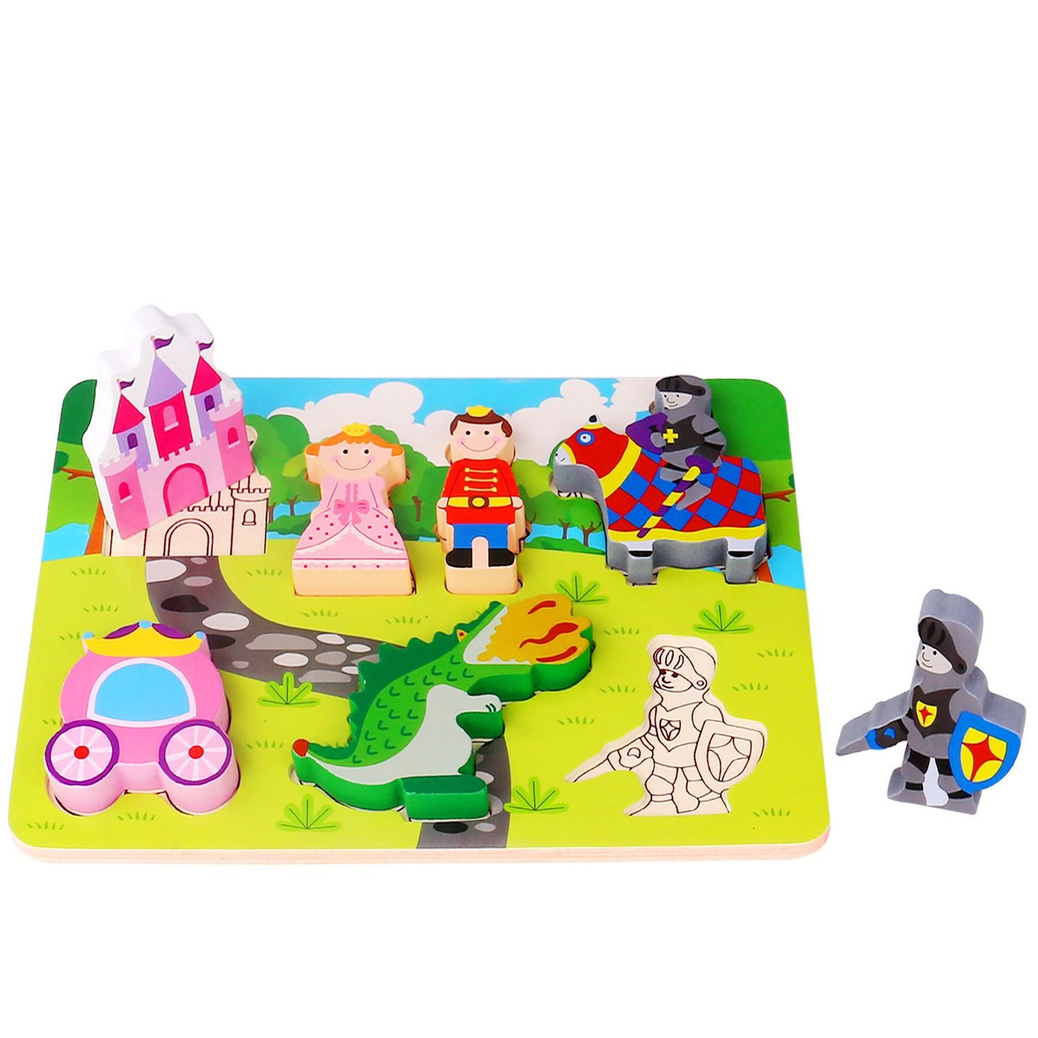 Tooky Toys Wooden Chunky Princess Castle Theme Puzzle