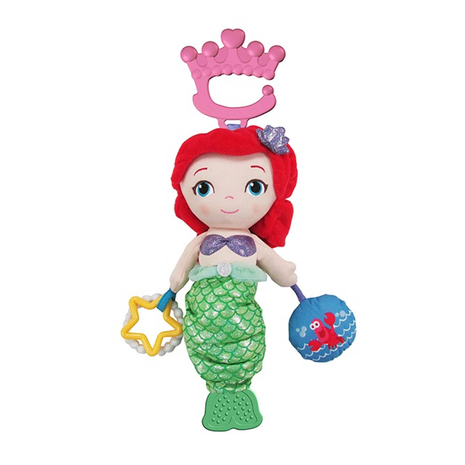 Disney Baby The Little Mermaid Ariel Plush Baby Activity Toy