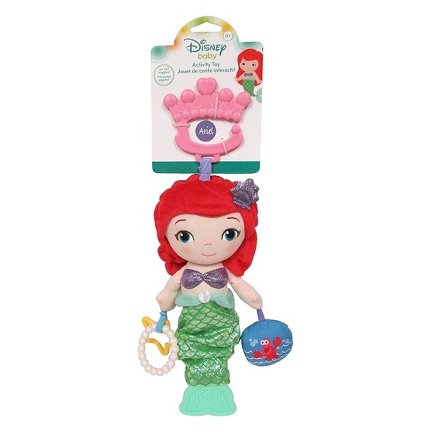 Disney Baby The Little Mermaid Ariel Plush Baby Activity Toy - Click Image to Close