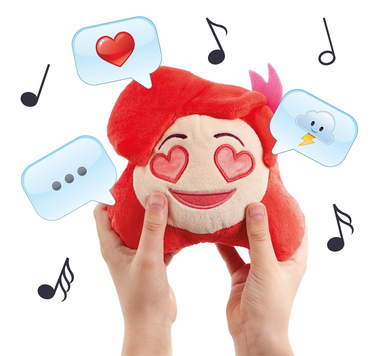 Disney Emoji #Chatties Little Mermaid Ariel Plush Sound Effects