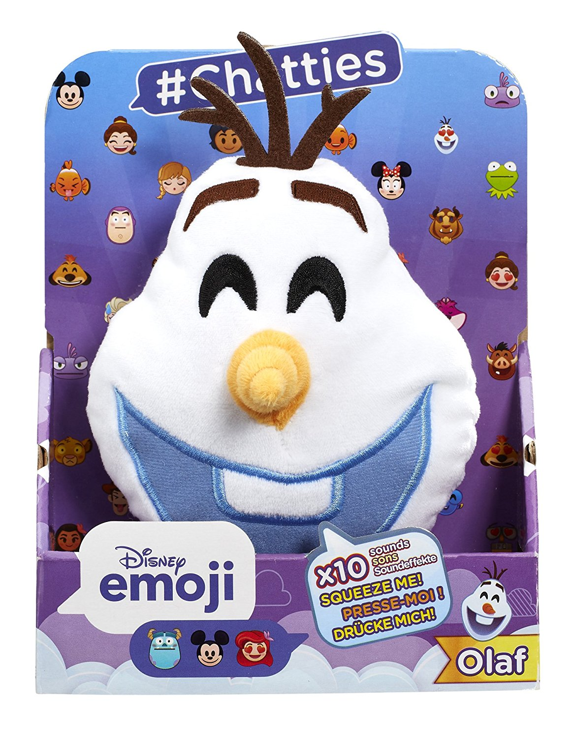 Disney Emoji #Chatties Frozen Olaf Plush With Sound Effects - Click Image to Close