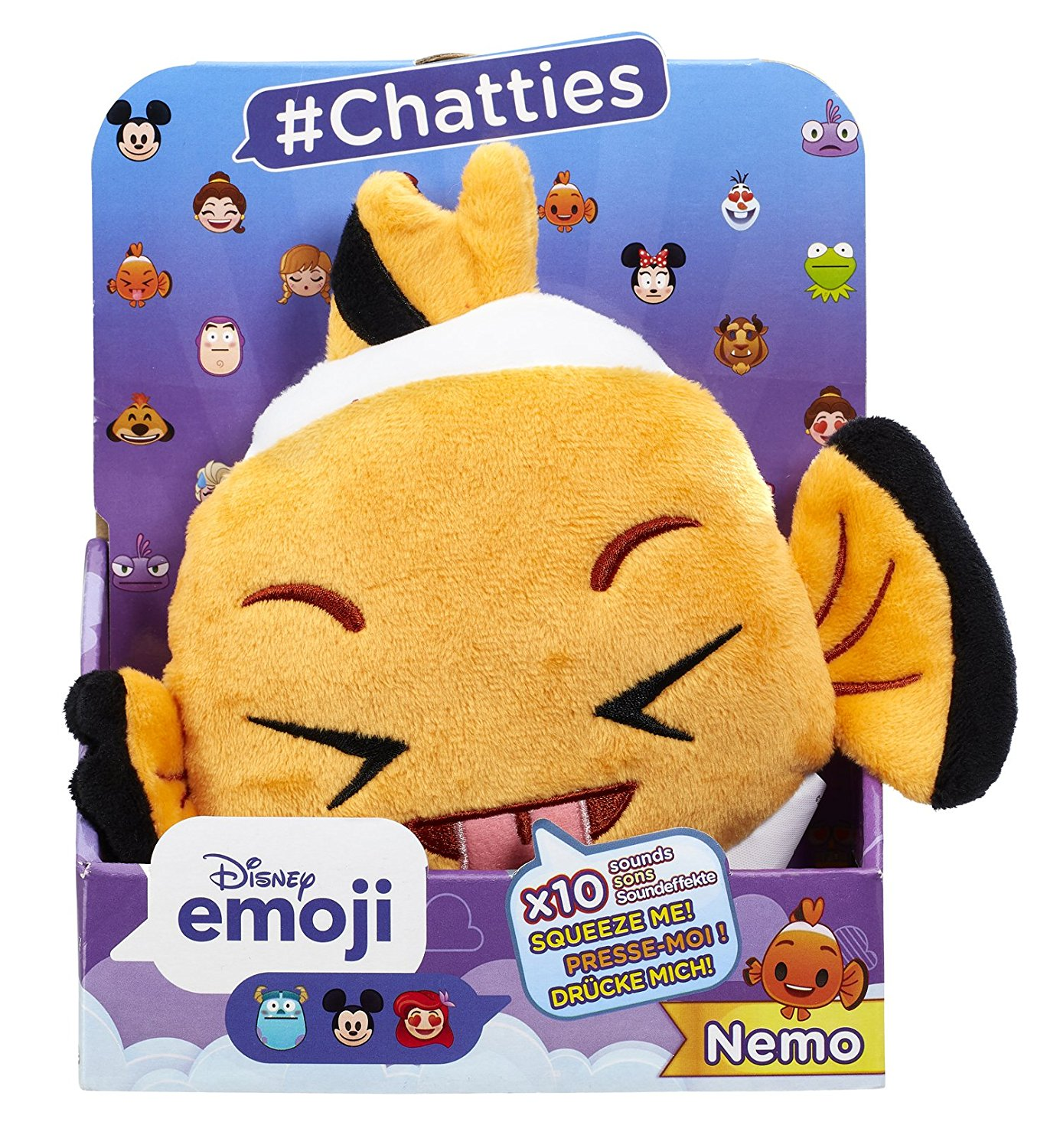 Disney Emoji #Chatties Finding Nemo Nemo Plush With Sound Effect - Click Image to Close