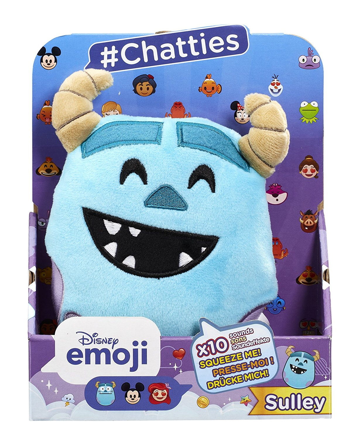 Disney Emoji #Chatties Monsters Inc Sulley Plush Sound Effects