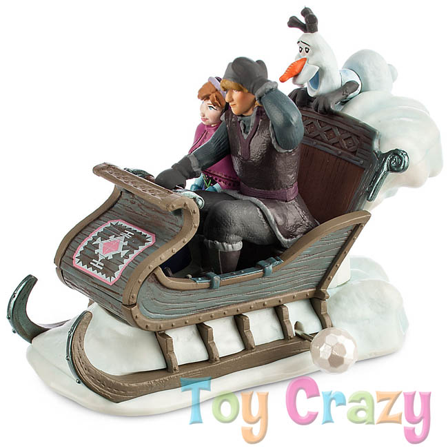 Disney Frozen Sleigh Wind Up Toy With Anna & Kristoff & Olaf