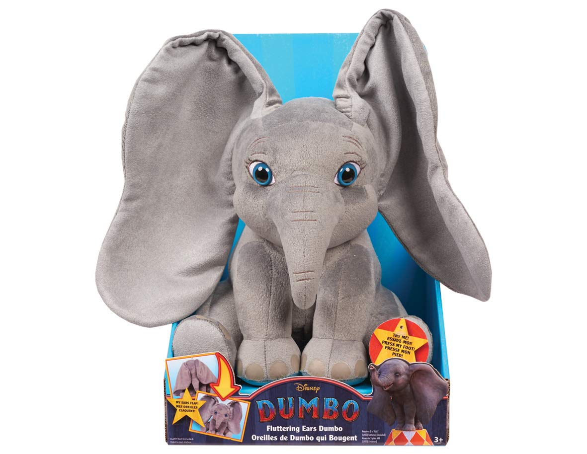 Disney Dumbo Movie Large Plush Fluttering Moving Ears Dumbo Toy