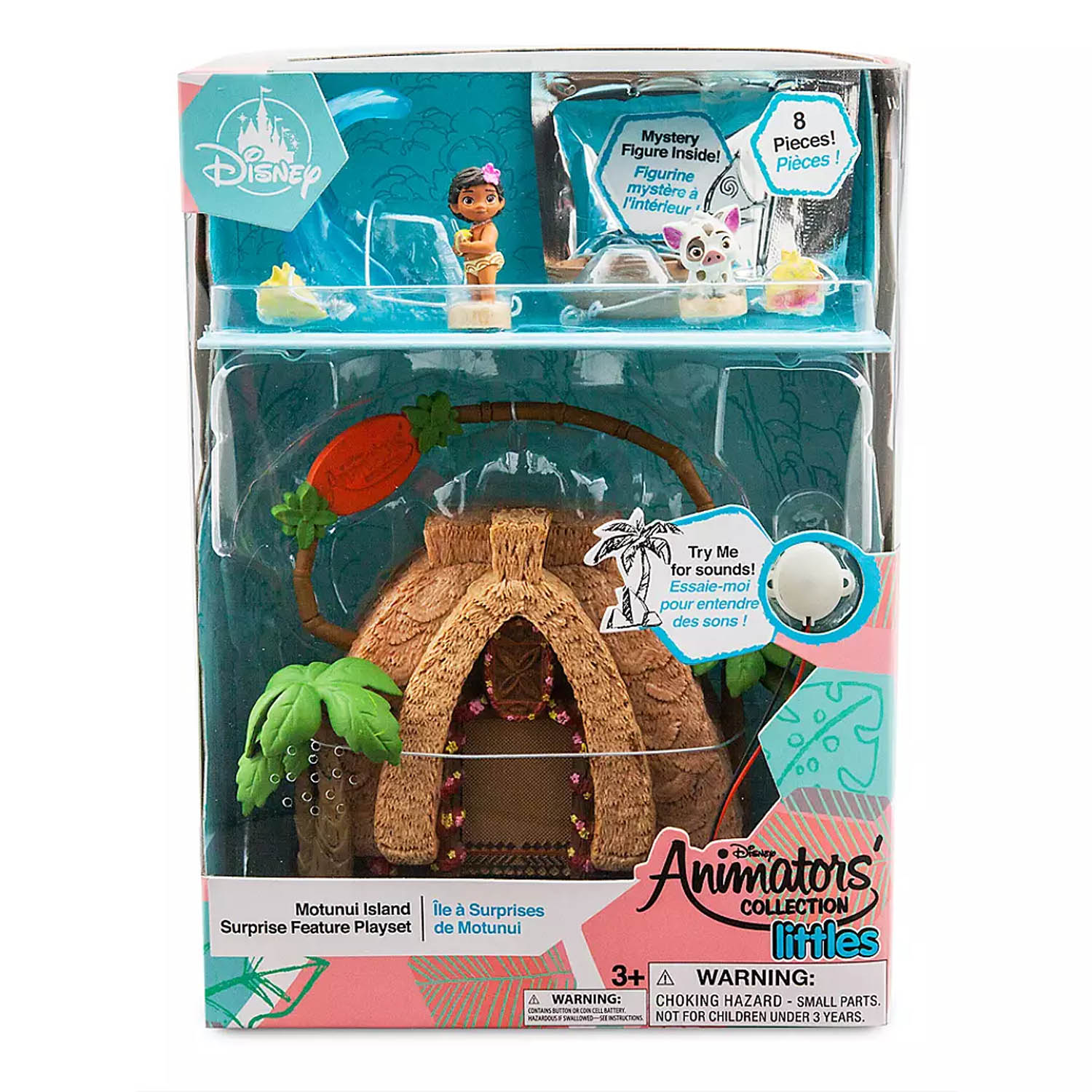 Disney Moana Animators' Littles Motunui Island Mini Playset