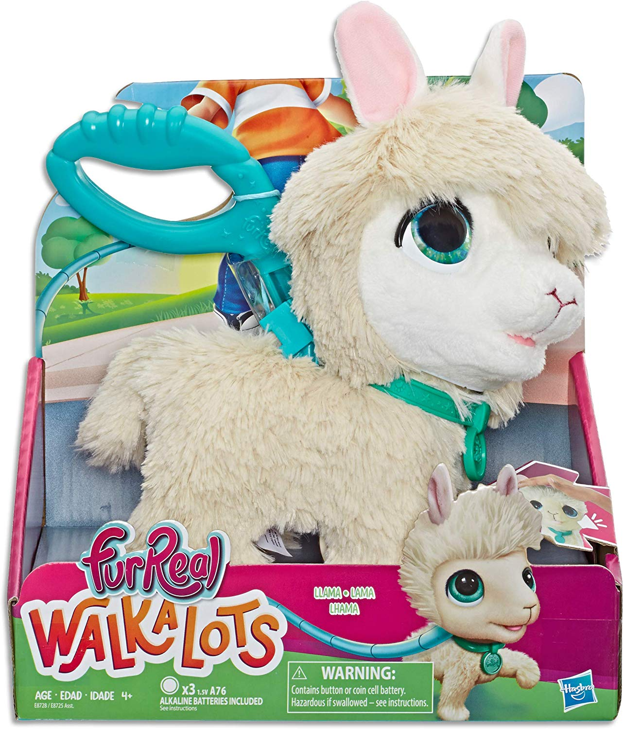 FurReal Walkalots Big Wags Llama Plush Interactive Toy