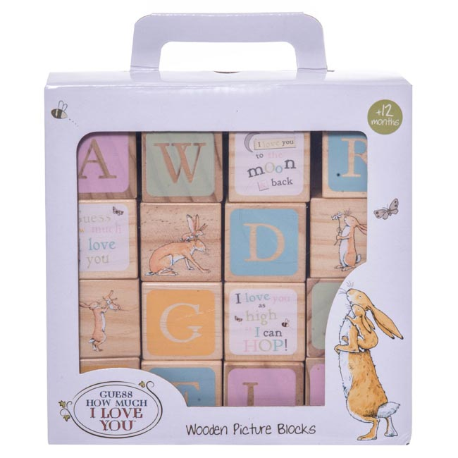 Guess How Much I Love You Nutbrown Hare Wooden Picture Blocks