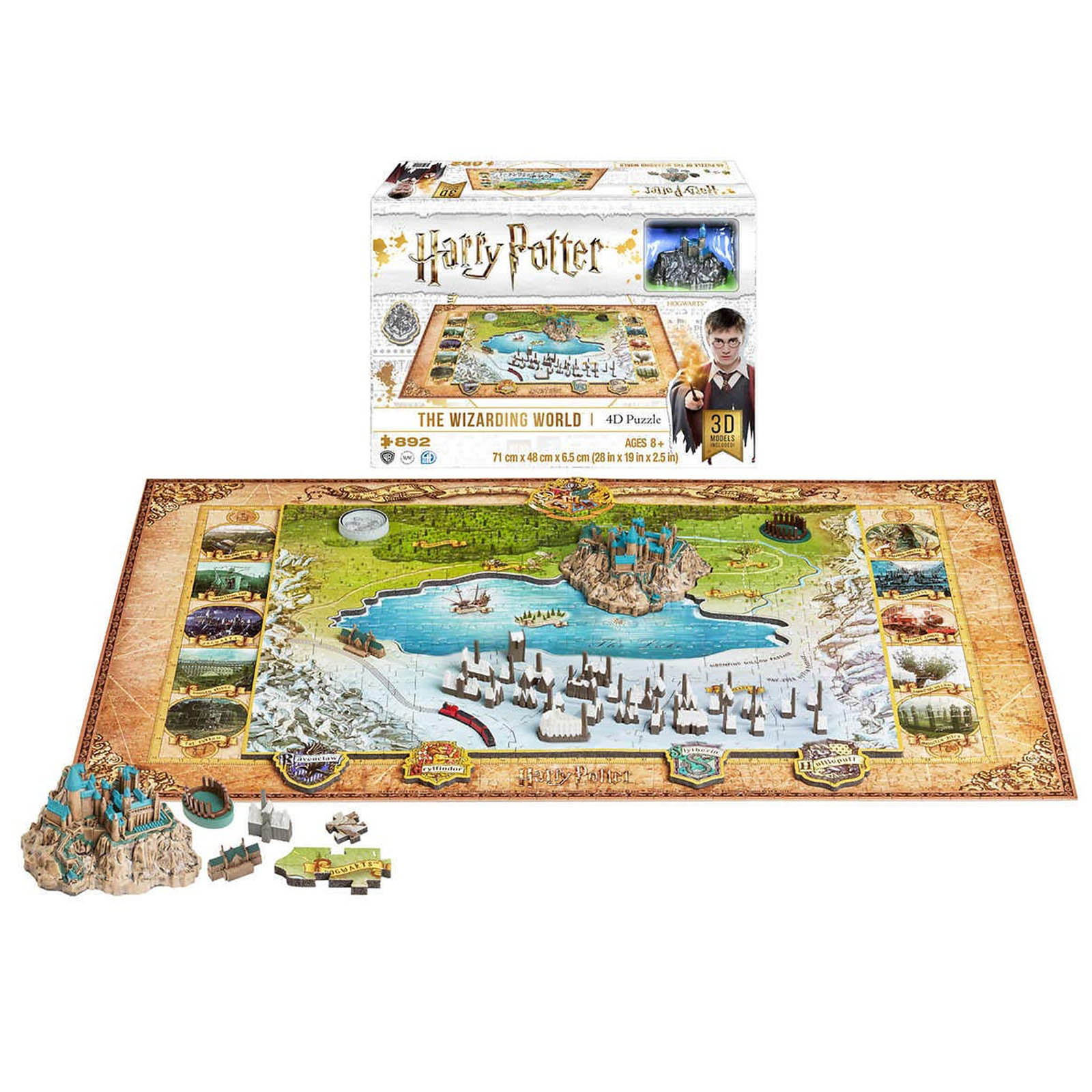 Harry Potter The Wizarding World 892 Piece 4D Cityscape Puzzle
