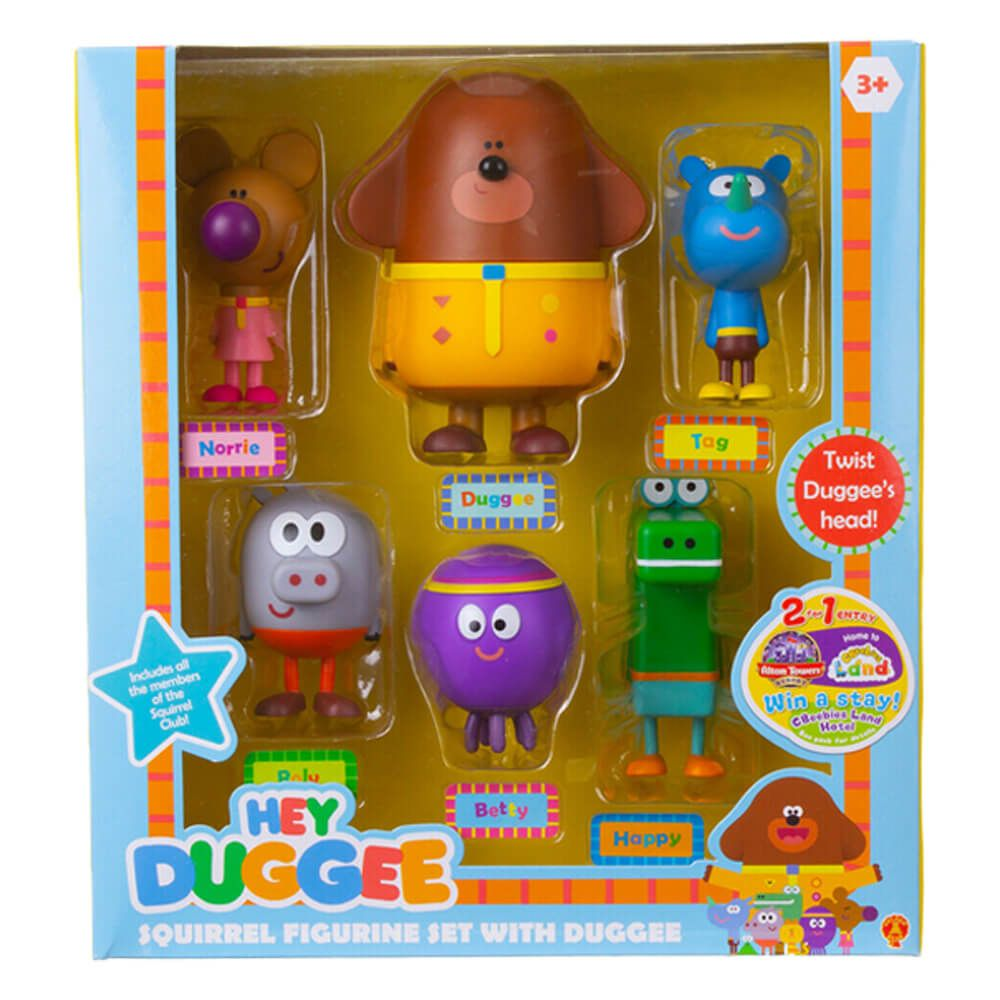 Hey Duggee 6 Piece Duggee & The Squirrels Figurine Set