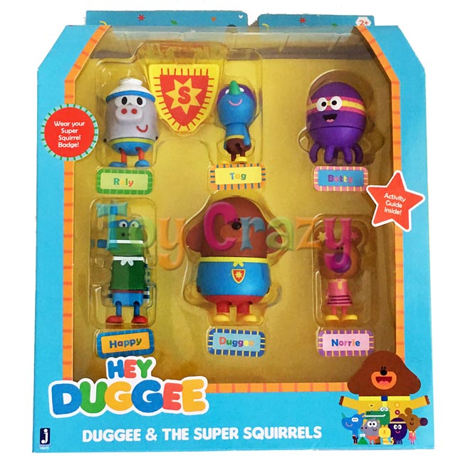Hey Duggee 6 Piece Duggee & The Super Squirrels Figures