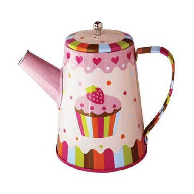 Kaper Kidz Cupcake Tin Tea Coffee Set with Mugs Pretend Play
