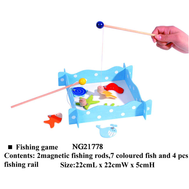 Kaper Kidz Wooden Magnetic Fishing Game