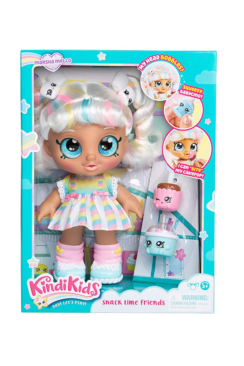 Kindi Kids Snack Time Friends Toddler Marsha Mello Doll