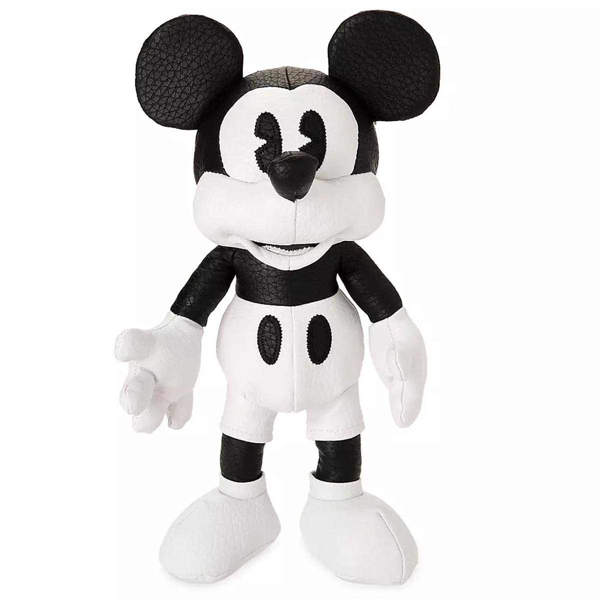 Mickey Mouse Simulated Black & White Leather Plush Exclusive