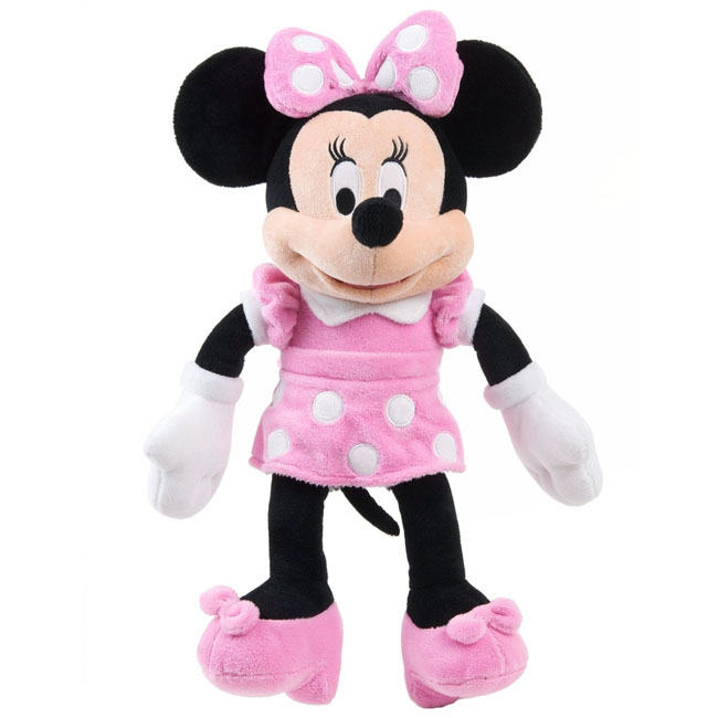 Minnie Mouse Large Classic Plush Pink Dress Authentic Disney
