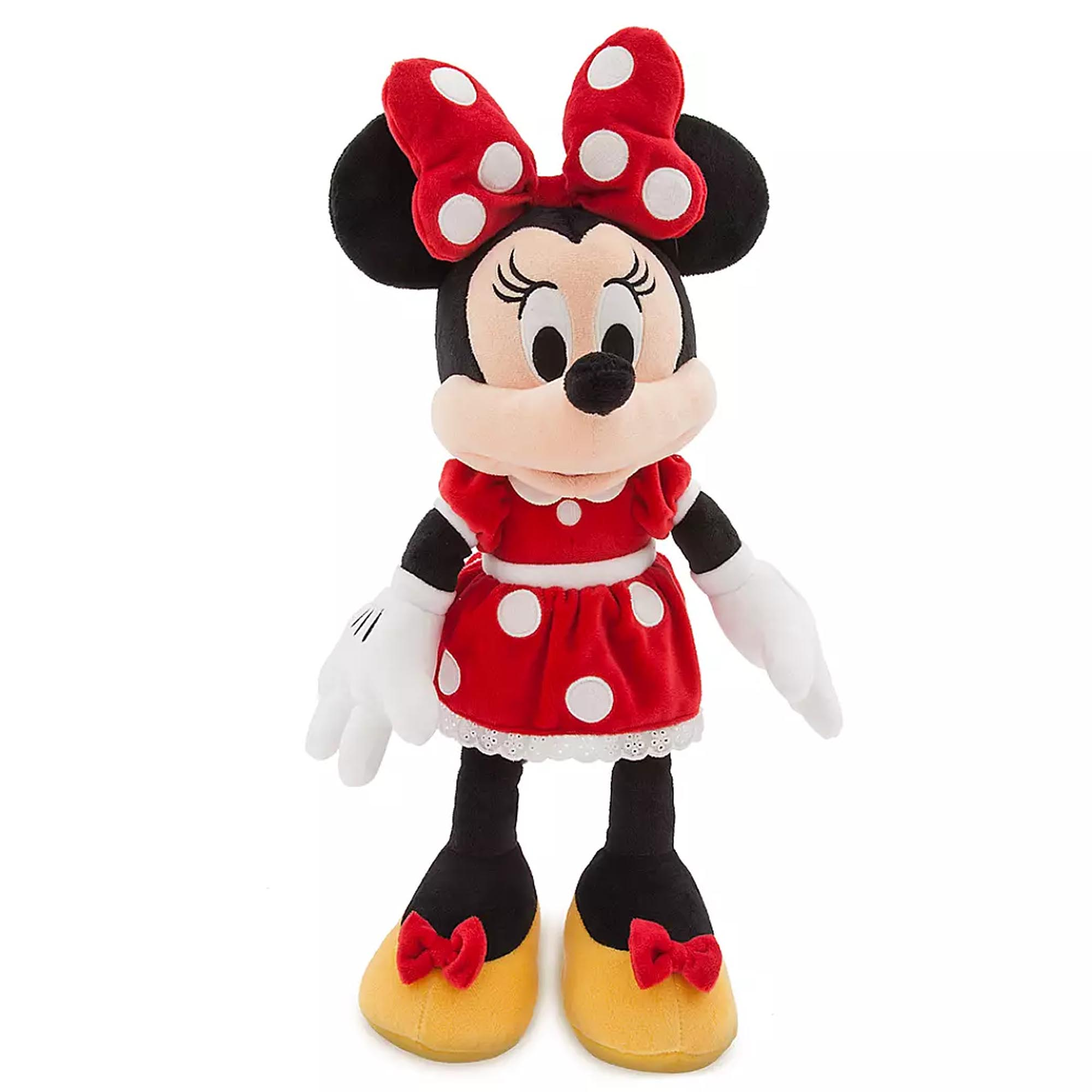 Minnie Mouse Large Classic Plush Red Dress Authentic Disney