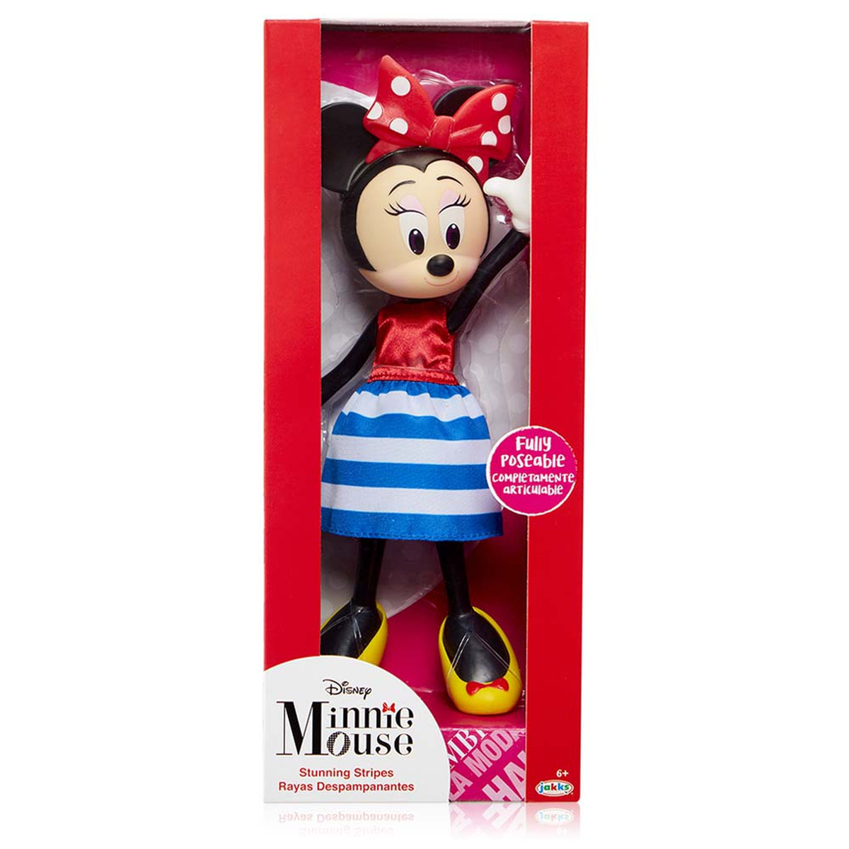 Disney Minnie Mouse Poseable Doll - Stunning Stripes