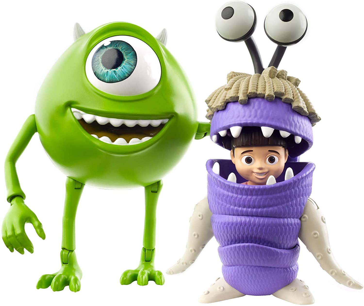 Disney Monsters Inc Boo and Mike Wazowski Action Figures Set