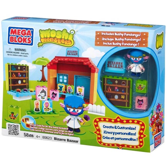 Moshi Monsters Mega Bloks Bizarre Bazaar 80623 - Click Image to Close