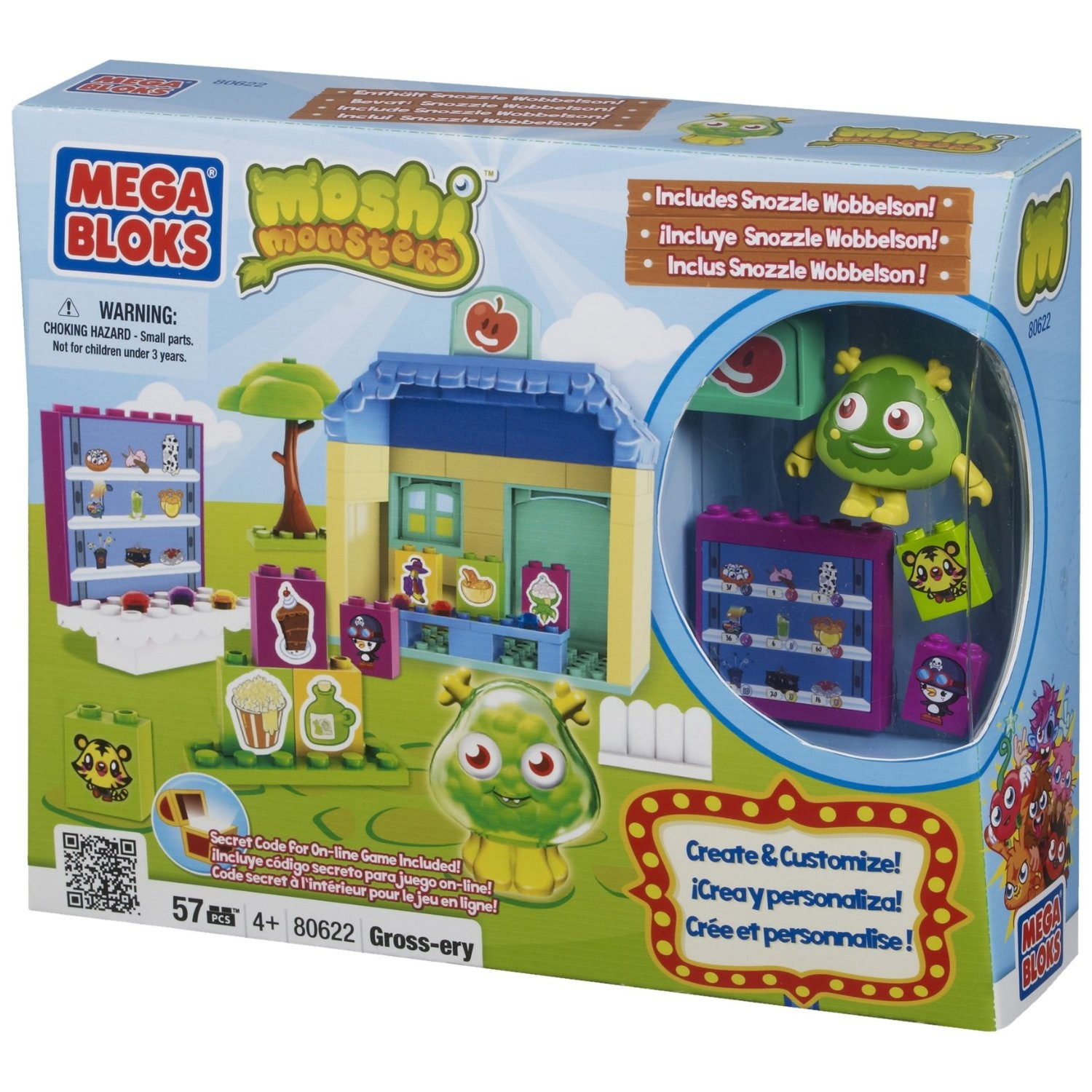 Moshi Monsters Mega Bloks Gross-ery Store 80622