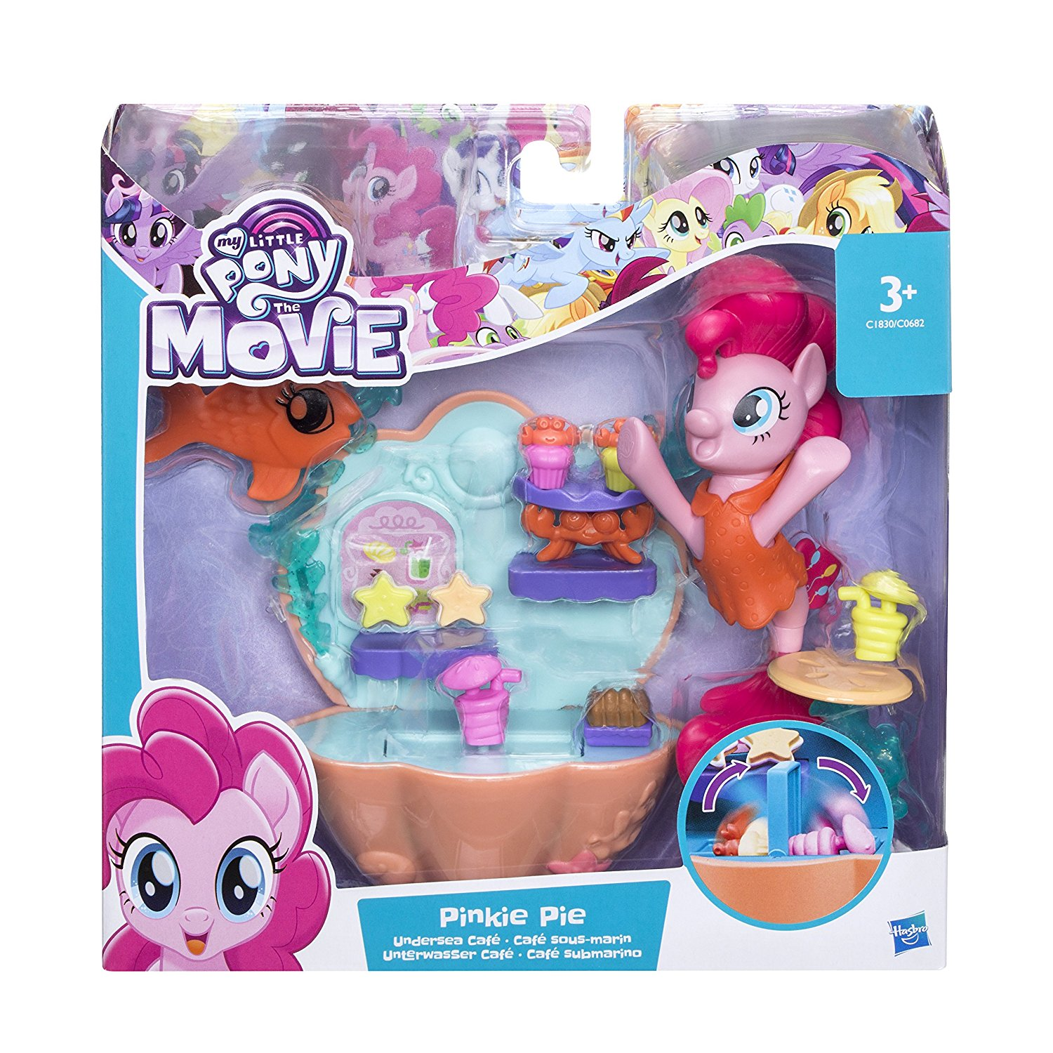 My Little Pony The Movie Pinkie Pie Undersea Café Playset