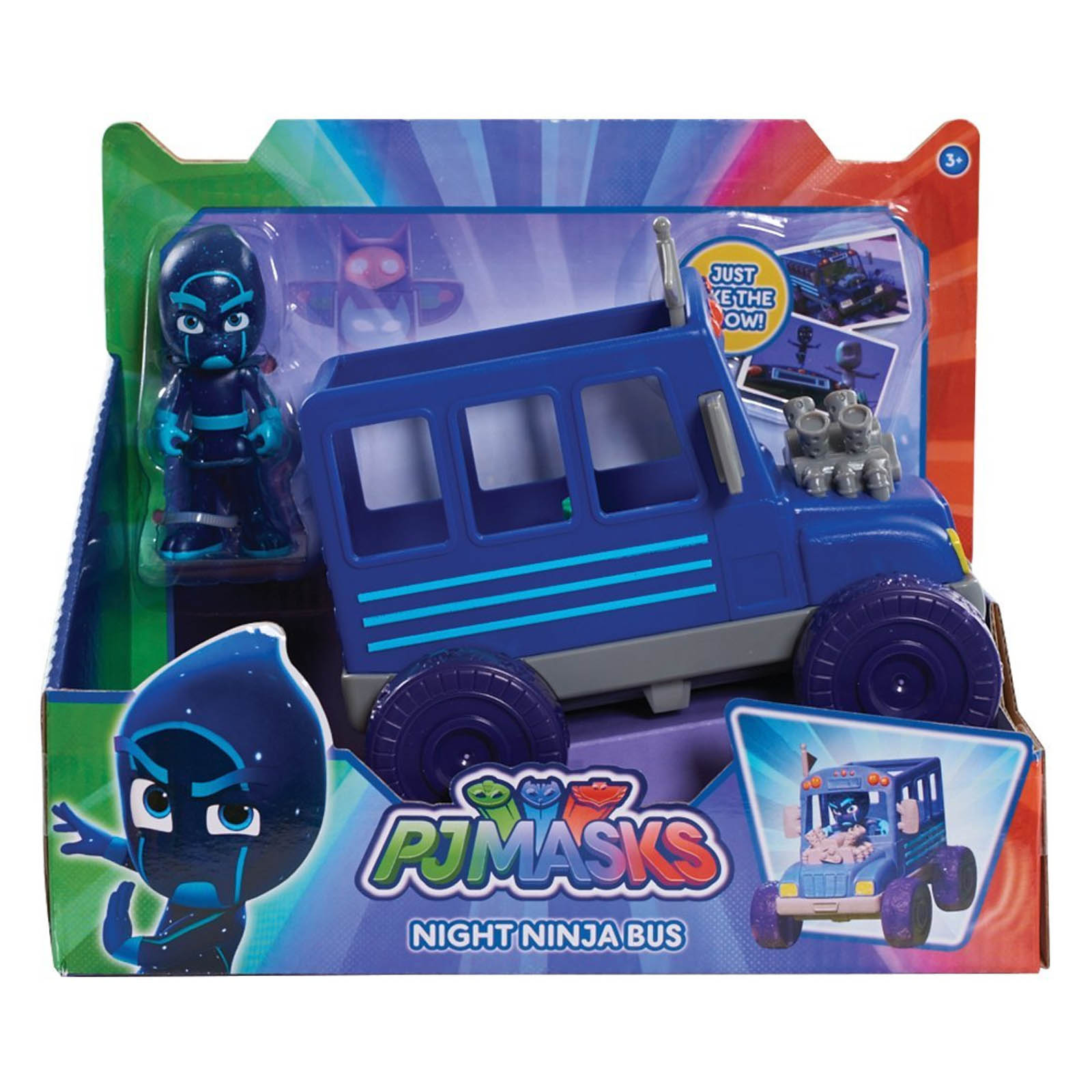 PJ Masks Night Ninja Bus Vehicle with Figure
