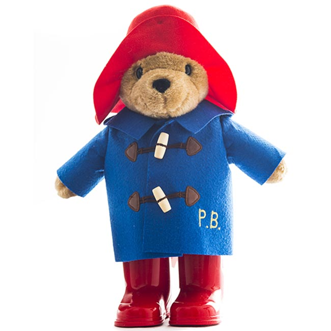 Paddington Bear Red Boots Standing Plush 22cm