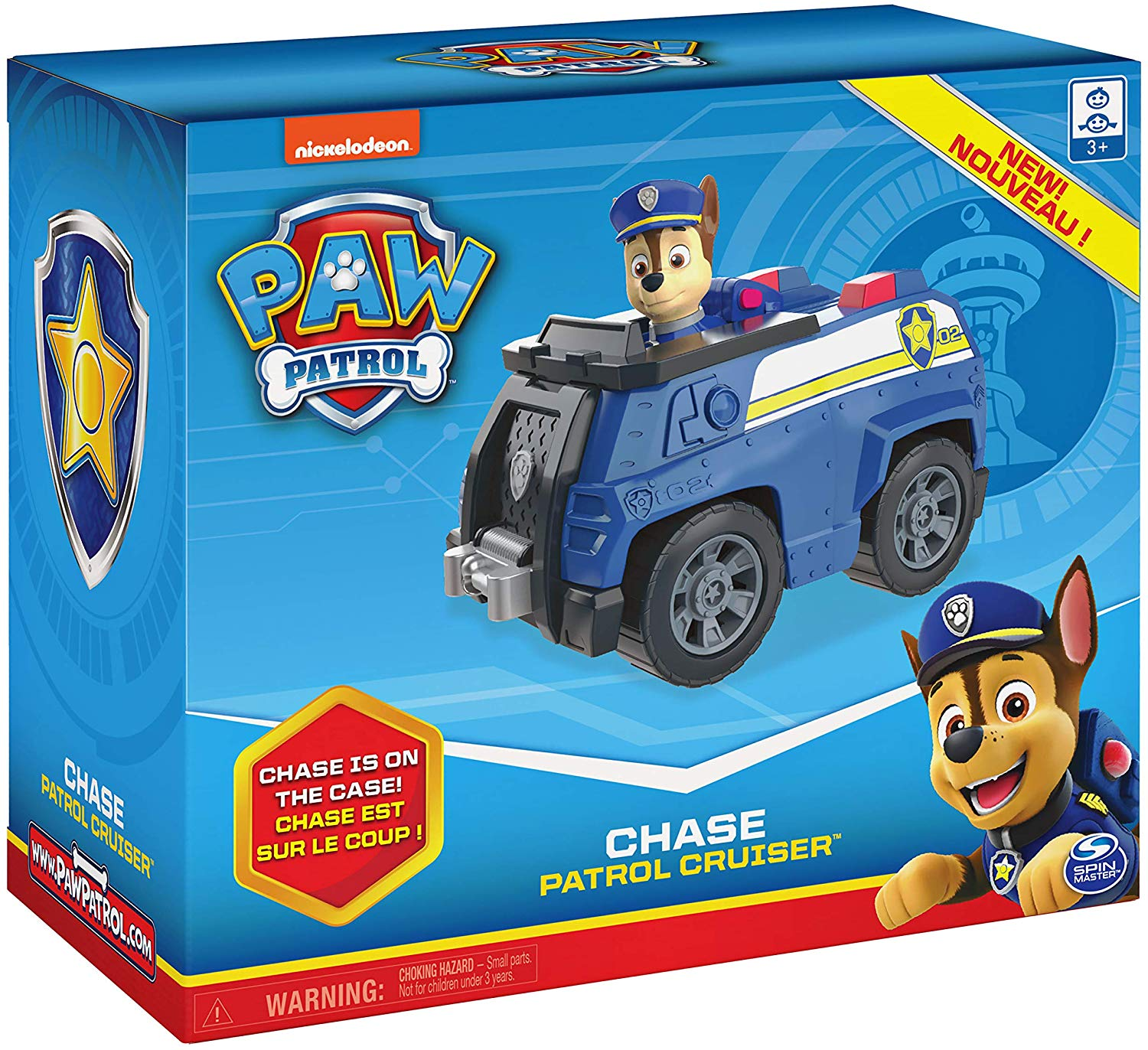 Paw Patrol Chase Patrol Cruiser Vehicle with Collectible Figure