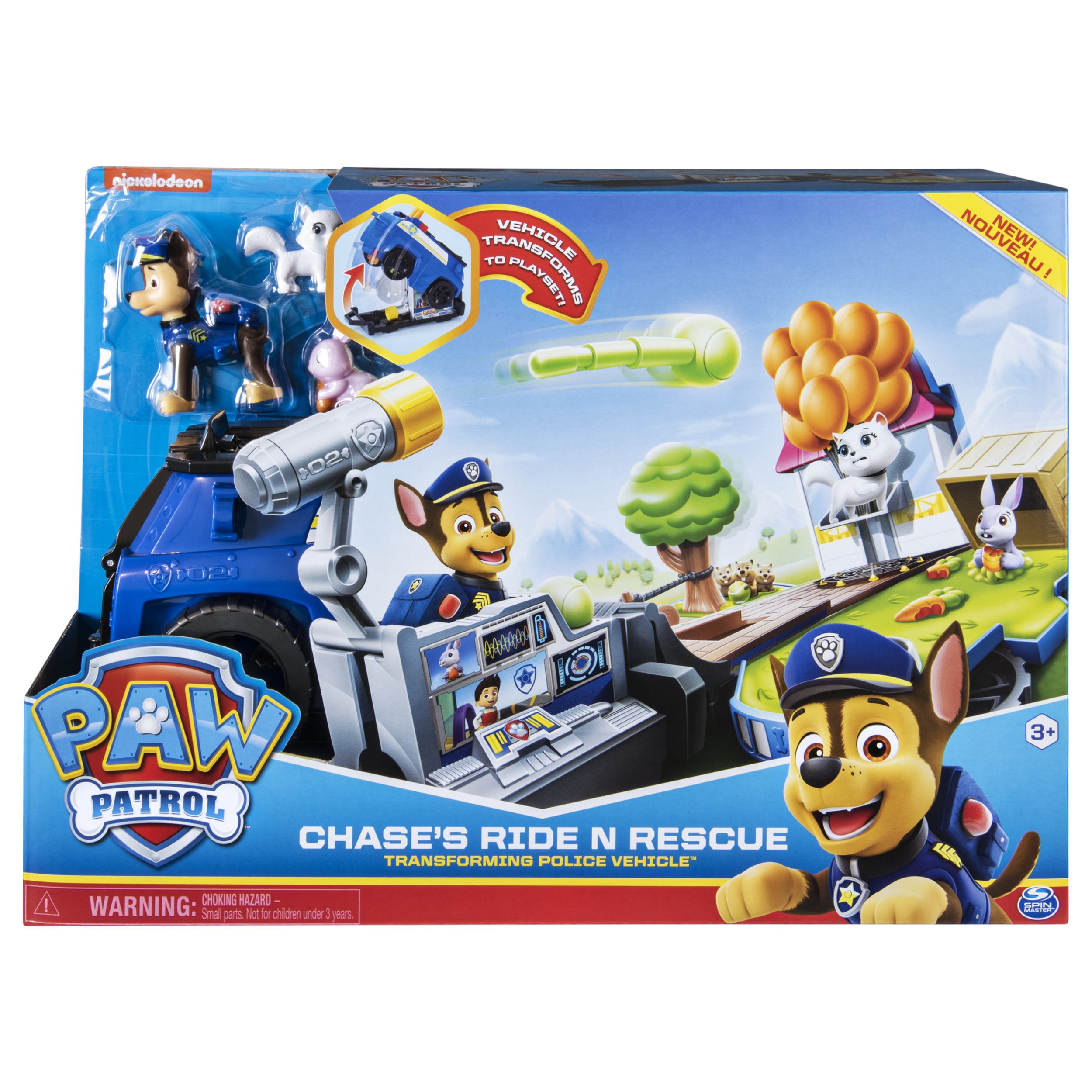 Paw Patrol Chase's Ride N Rescue Transforming Police Car PlaySet