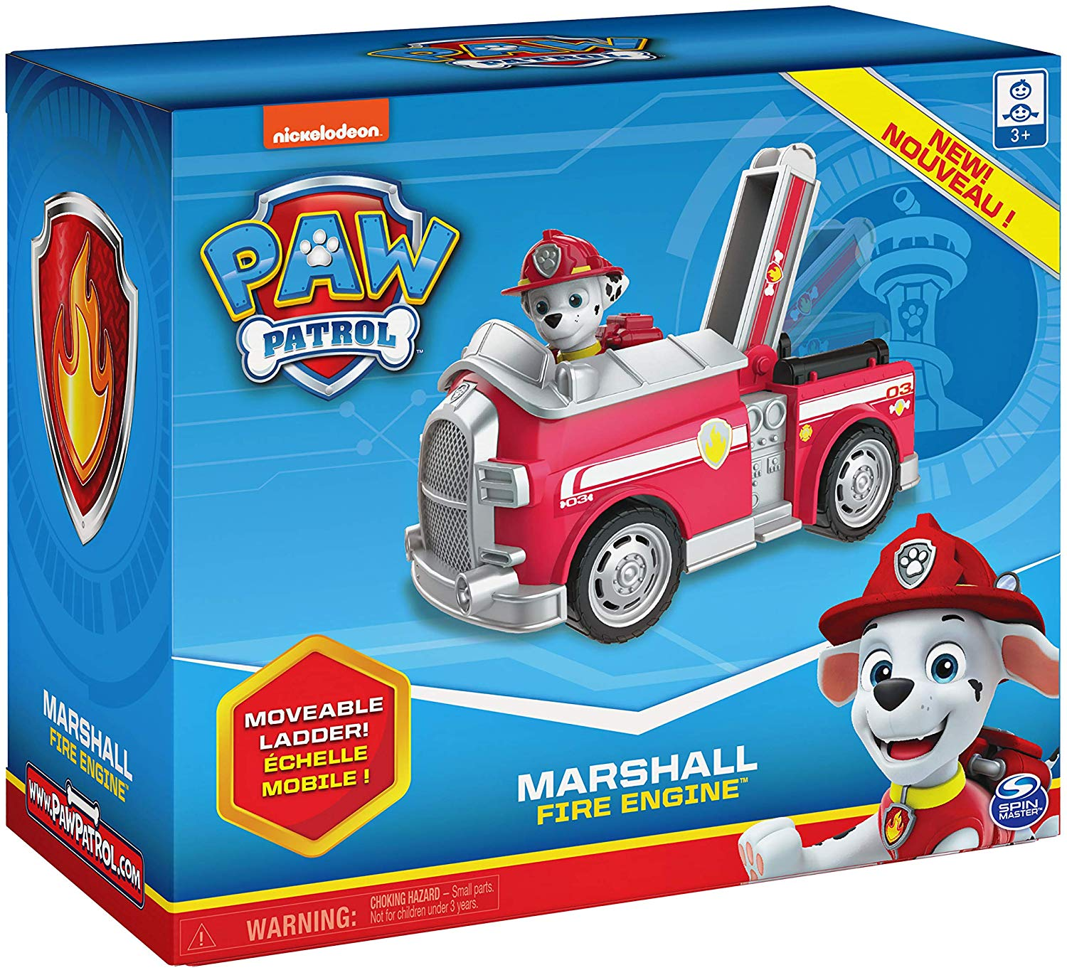 Paw Patrol Marshall Fire Engine Vehicle with Collectible Figure