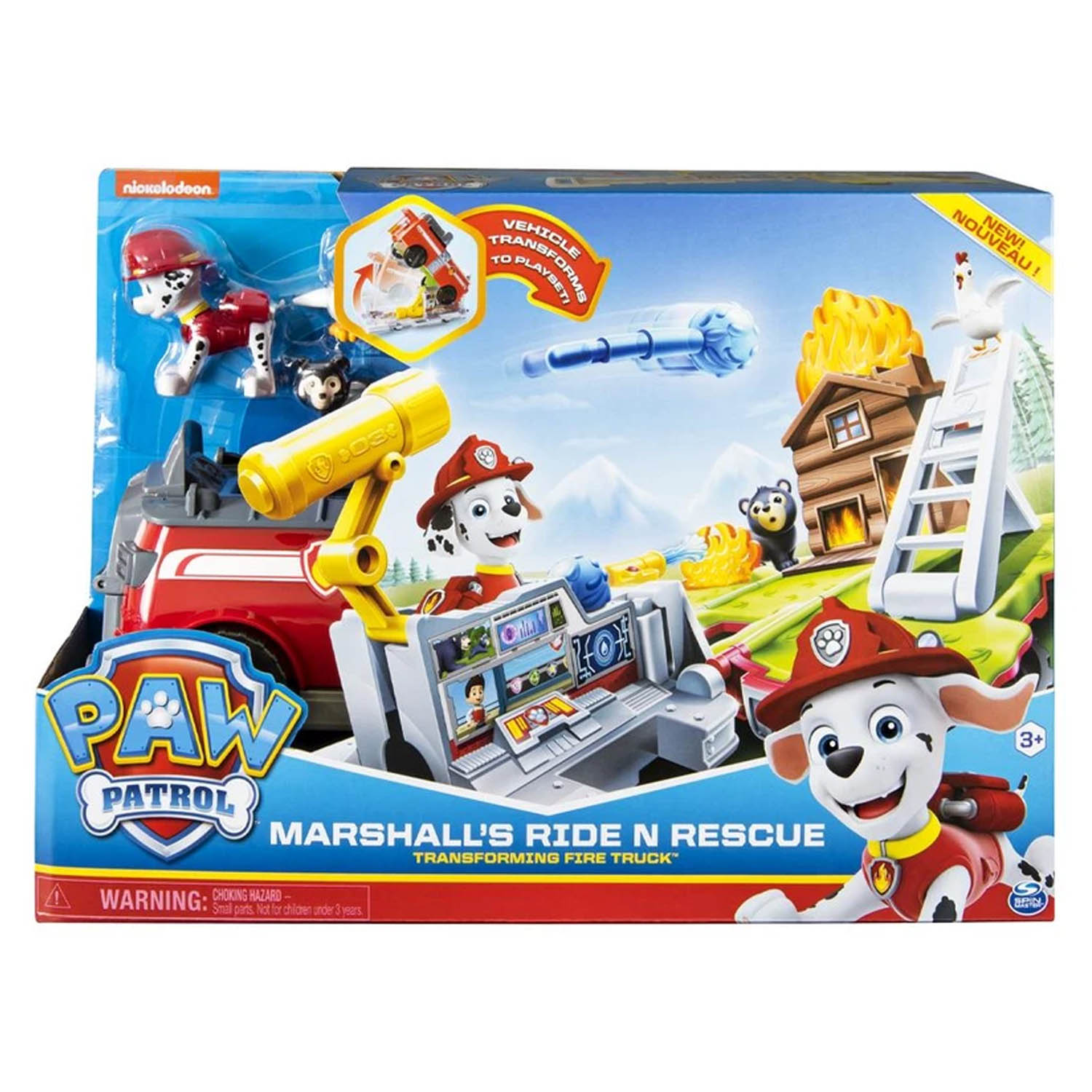 Paw Patrol Marshall's Ride N Rescue Transforming Fire Truck