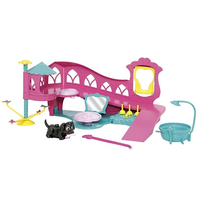 Pet Parade Play World Playset with Black Labrador Puppy