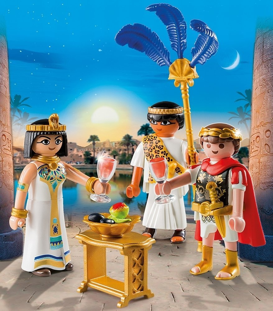 Playmobil History 5394 Egypt Caesar and Cleopatra Play Set - Click Image to Close