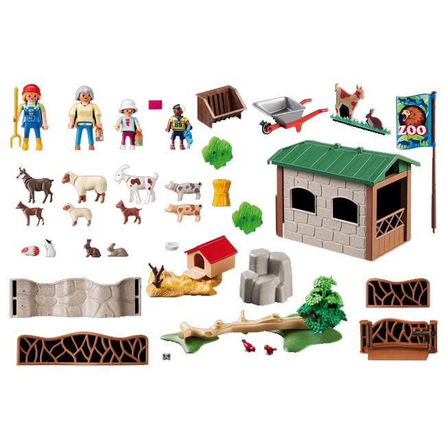 Playmobil City Life Children's Petting Zoo Playset 6635