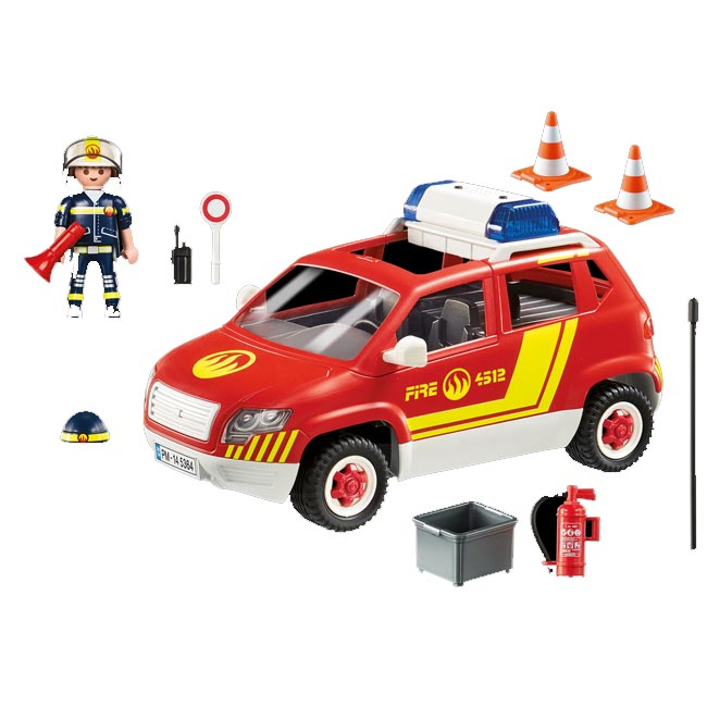 Playmobil City Action Fire Chief's Car with Lights and Sound 539