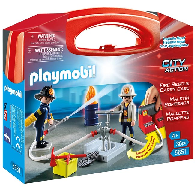 Playmobil City Action Fire Rescue Carry Case Playset 5651