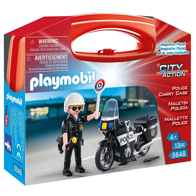 Playmobil City Action Police Carry Case Playset 5648