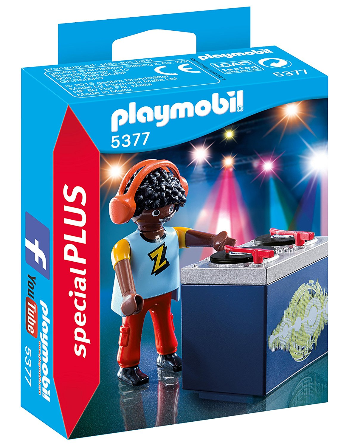Playmobil 5377 Special Plus DJ Dee Jay Z Figure - Click Image to Close