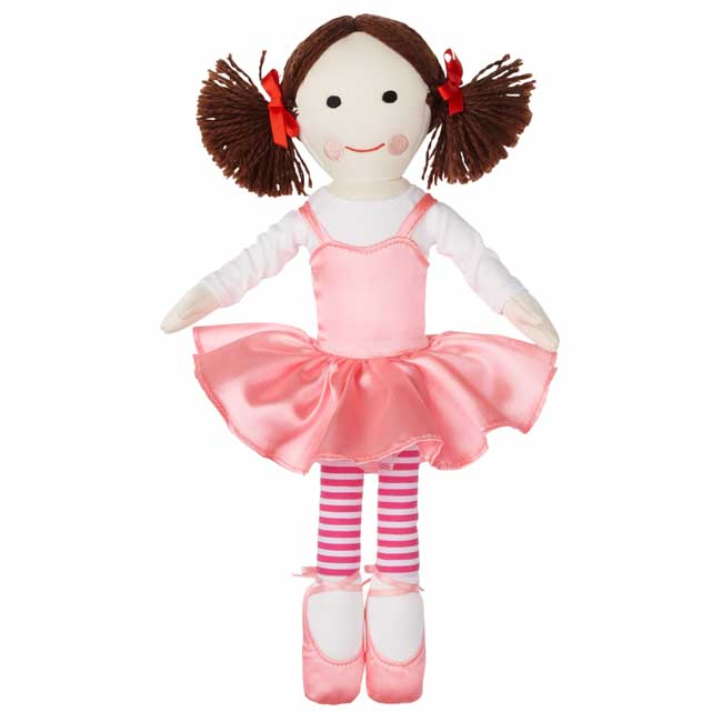 Play School Jemima Plush Doll in Pink Ballerina Outfit 32cm