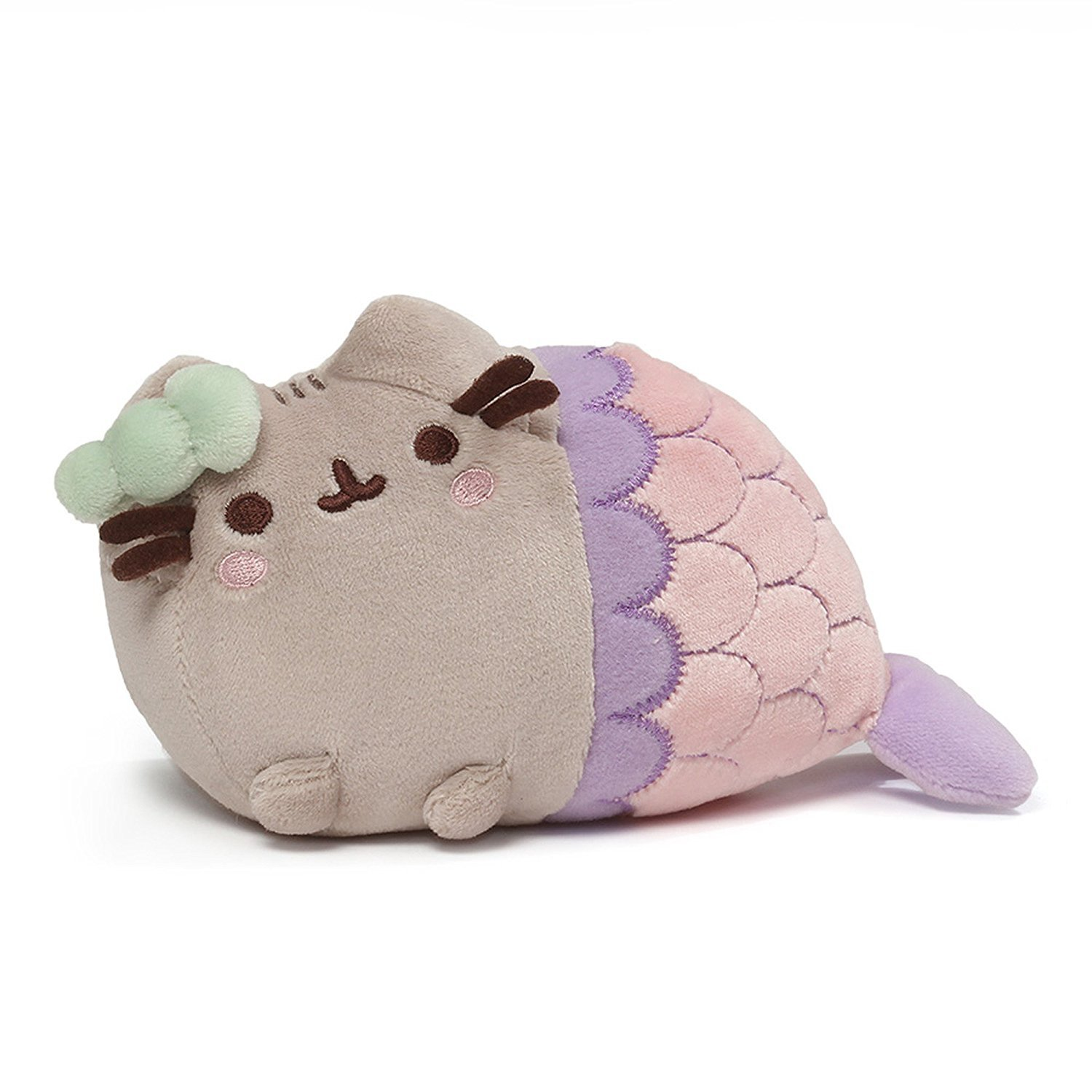 Pusheen The Cat Mermaid Spiral Shell Pink Soft Plush Gund 18cm
