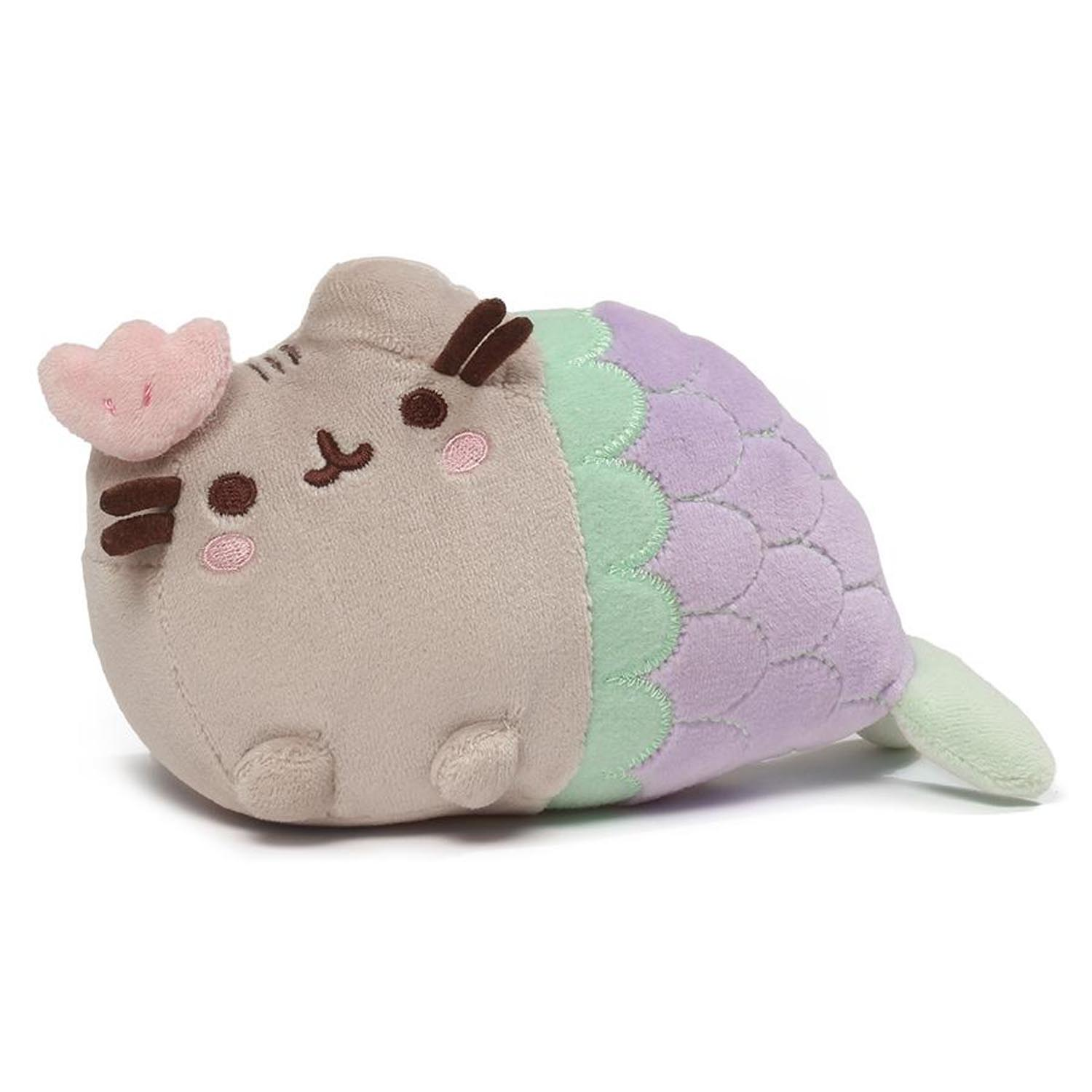 Pusheen The Cat Mermaid Clam Shell Purple Soft Plush Gund 18cm