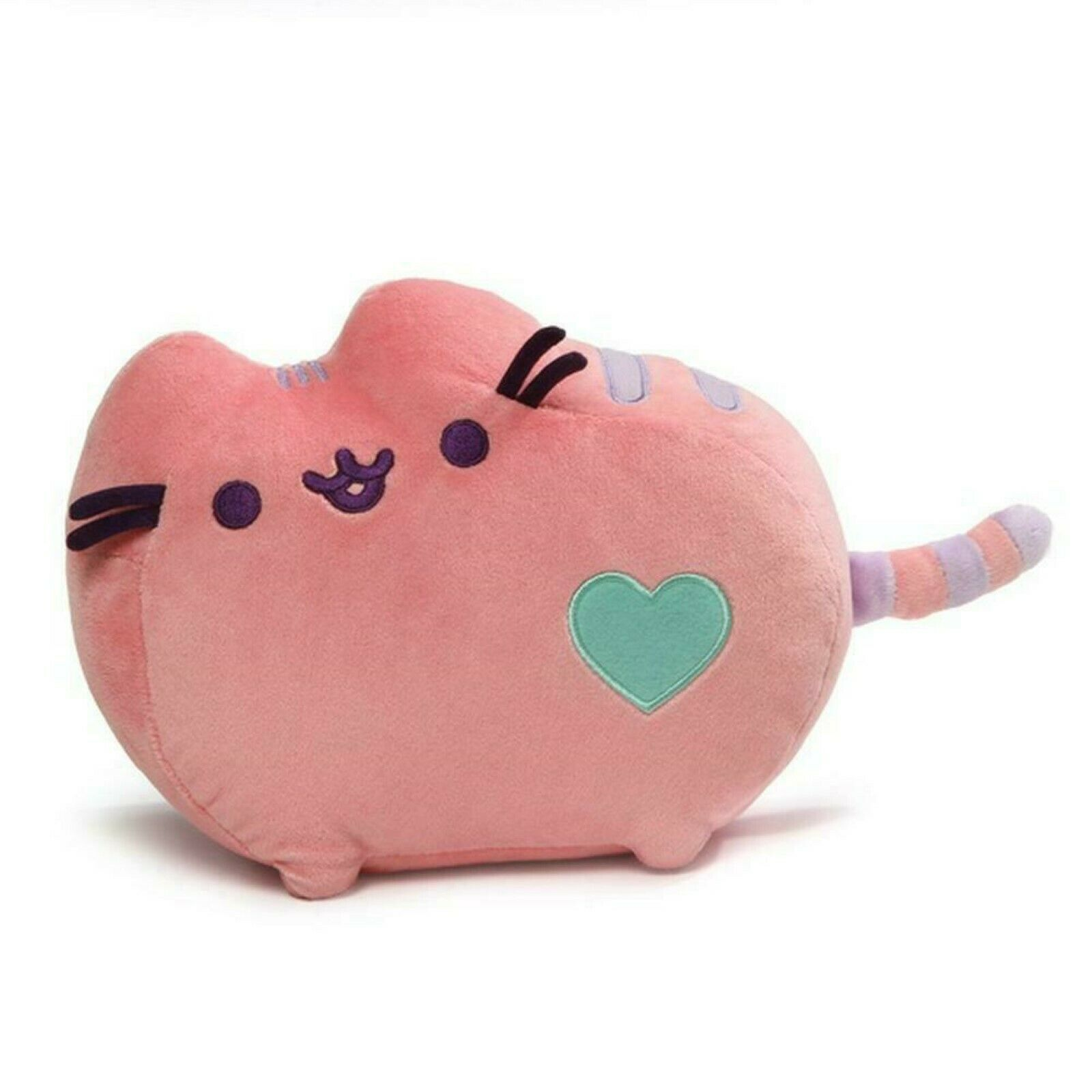 Pusheen The Cat Pastel Pink Plush Heart Genuine Gund