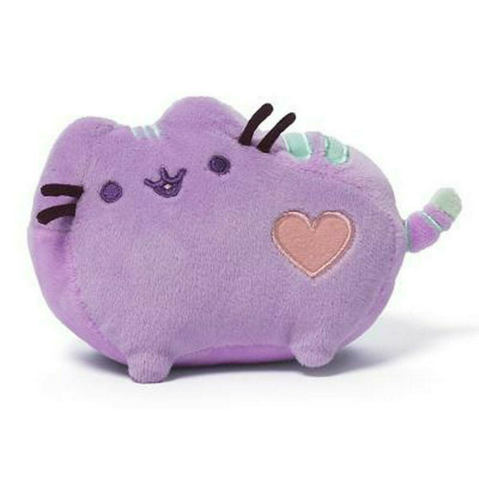 Pusheen The Cat Pastel Purple Plush Heart Genuine Gund