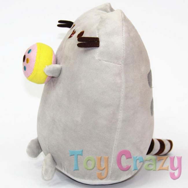 Pusheen The Cat Plush Toy Holding A Donut Genuine Licenced Gund