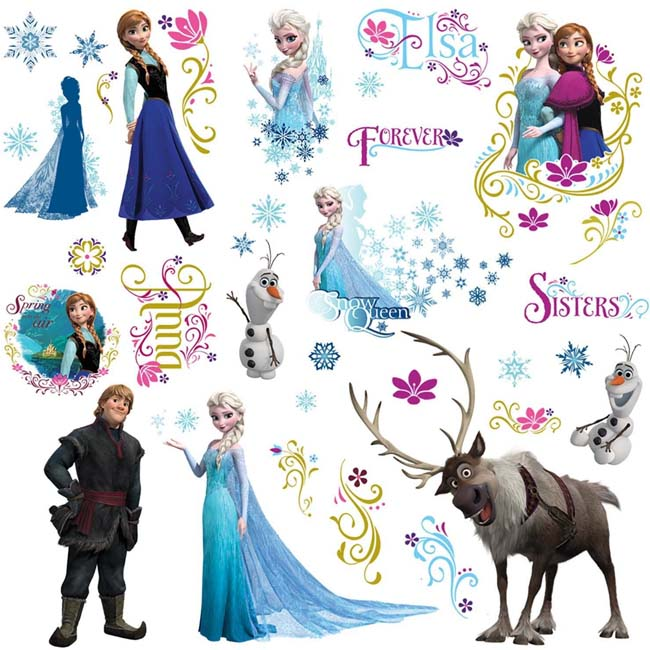 RoomMates Disney Frozen Anna Elsa Wall Stickers