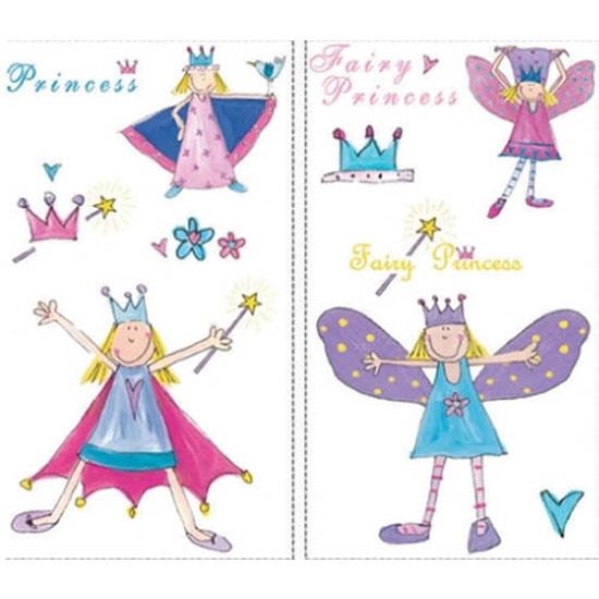 RoomMates Fairy Princess Repositional Peel & Stick Wall Stickers ...
