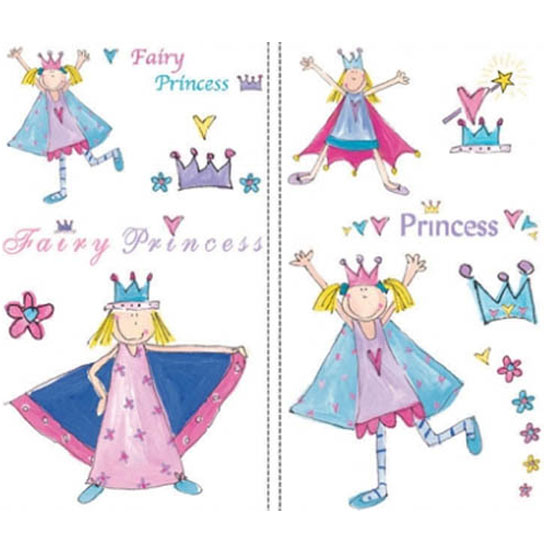 RoomMates Fairy Princess Repositional Peel & Stick Wall Stickers