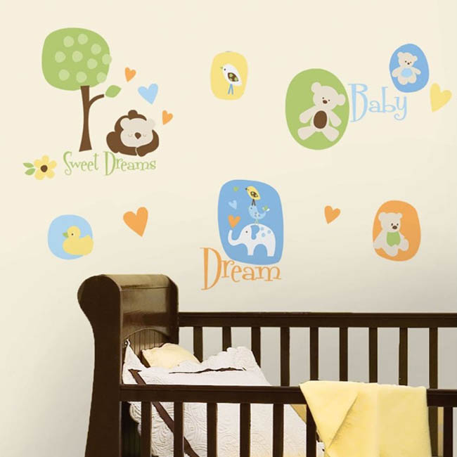 RoomMates Baby Animal Peel and Stick Wall Decals