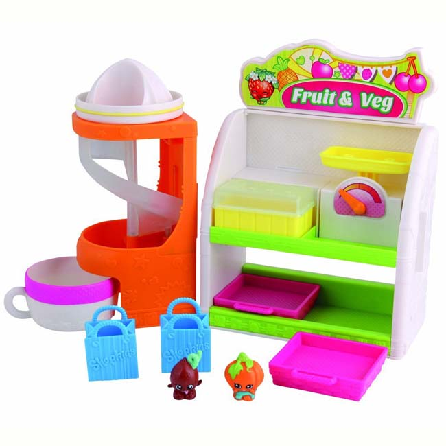 Shopkins Easy Squeezy Fruit & Veg Stand with 2 Exclusive Shopkin